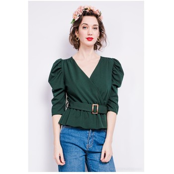 material Women Blouses Fashion brands STCO-CROISEE-ALPINE-GREEN Green