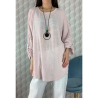 material Women Blouses Fashion brands 15050-PINK Pink