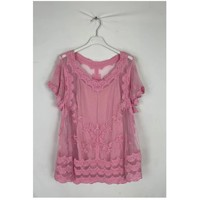 material Women Blouses Fashion brands 2025-PINK Pink