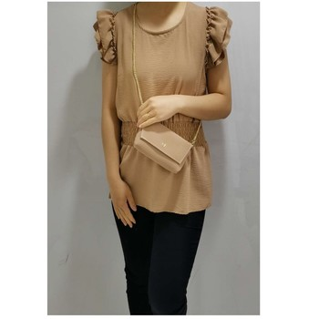 material Women Blouses Fashion brands 3101-CAMEL Camel