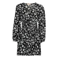 material Women Short Dresses Moony Mood PAPIS Black / White