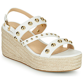 Shoes Women Sandals Cosmo Paris HOURA White / Gold