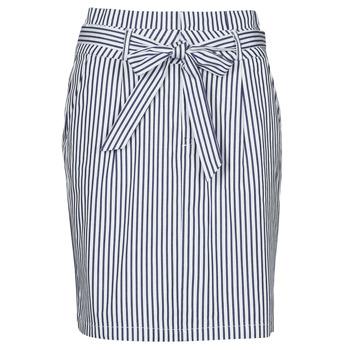 material Women Skirts Vero Moda VMEVA Blue / White