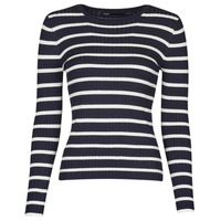material Women jumpers Only ONLNATALIA Marine / White