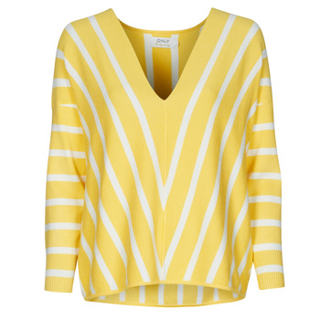 material Women jumpers Only ONLAYA Yellow / White