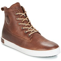 Shoes Men High top trainers Blackstone INCH WORKER ON FOXING FUR Brown