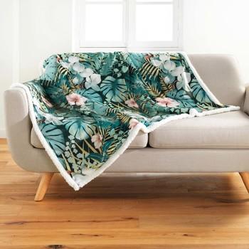 Home Blankets, throws Douceur d intérieur KELLY Blue