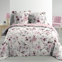 Home Bed linen Douceur d intérieur VELVET FLOWER White
