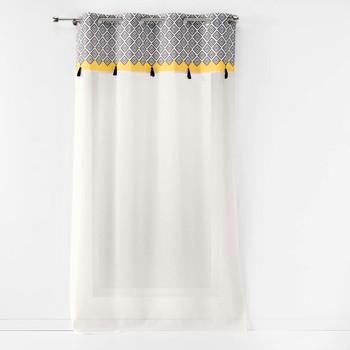 Home Sheer curtains Douceur d intérieur NEO CASA Grey