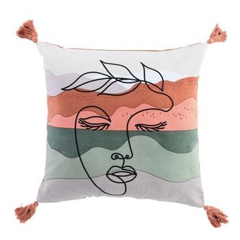 Home Cushions Douceur d intérieur SIWANA White