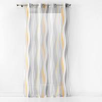 Home Sheer curtains Douceur d intérieur ONDULYS White / Et  / Yellow