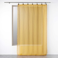 Home Sheer curtains Douceur d intérieur LINKA Yellow