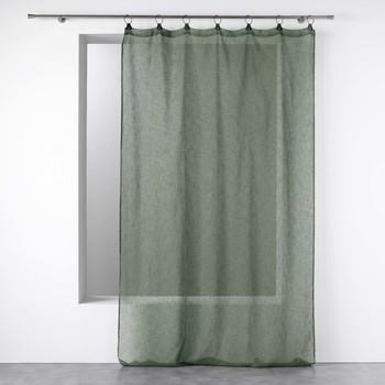 Home Sheer curtains Douceur d intérieur LINKA Kaki