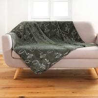 Home Blankets, throws Douceur d intérieur ARTY LINE Kaki / Et  / Silver