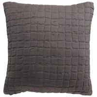 Home Cushions covers Vivaraise SWAMI Grey / Asphalte