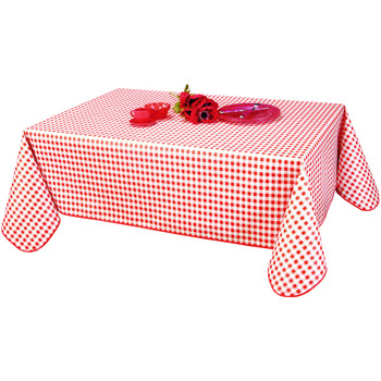 Home Tablecloth Habitable VICHY - ROUGE - 140X200 CM Red