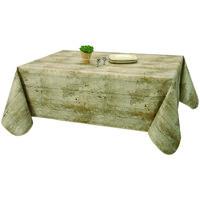 Home Tablecloth Habitable COTTAGE NATUREL - MARRON - 140X200 CM Brown
