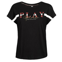 material Women short-sleeved t-shirts Only Play ONPANELE Black