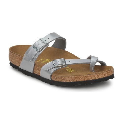 Shoes Women Mules Birkenstock MAYARI Silver