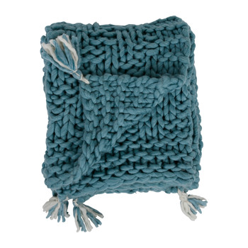 Home Blankets, throws Côté Table CHALIN Blue / Glacier