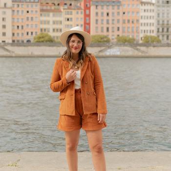 material Women Jackets / Blazers Céleste SASSAFRAS Camel
