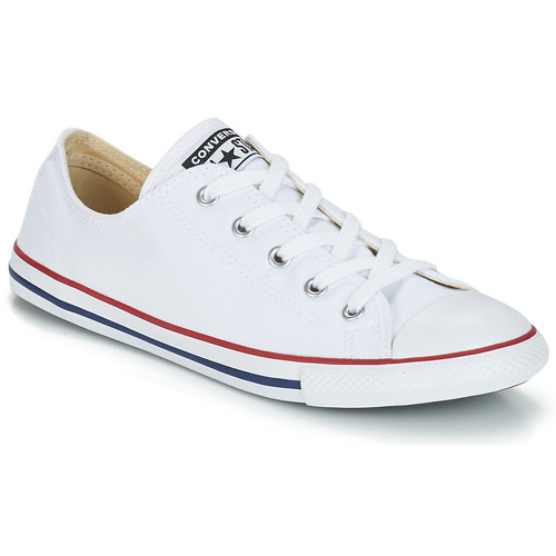 178b4f39421 Converse ALL STAR DAINTY OX White   Red - Free delivery with Spartoo ...