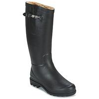 Shoes Women Wellington boots Aigle AIGLENTINE FUR Black