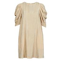 material Women Short Dresses Moony Mood  Beige