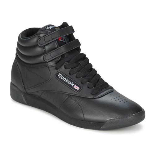 Reebok Classic FREESTYLE HI Black - Free delivery with Spartoo NET ... f6bef6f27640