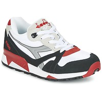 Shoes Low top trainers Diadora N9000  NYL White / Black / Red
