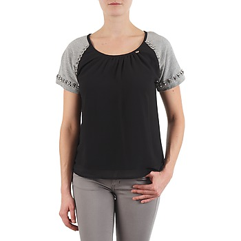 material Women short-sleeved t-shirts Lollipops PADELINE TOP Black / Grey