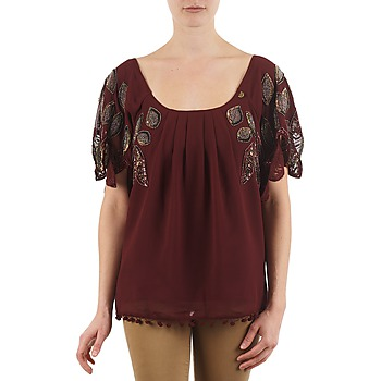 material Women short-sleeved t-shirts Lollipops POCAHONTAS TOP Bordeaux