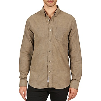 material Men long-sleeved shirts Kulte CHEMISE CLAY 101799 BEIGE Beige