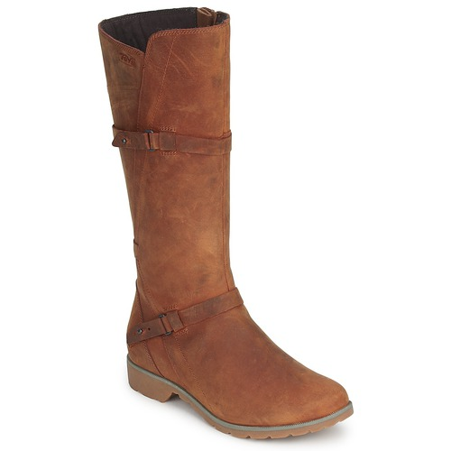 Shoes Women Boots Teva DELAVINA LEATHER Brown