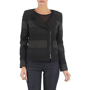 material Women Jackets / Blazers Lola VIE DUP Black / Grey