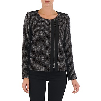 material Women Jackets / Blazers Lola VIE LUREX Black / Beige