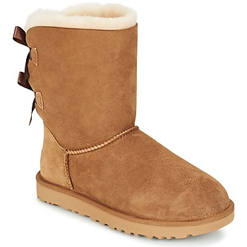 Shoes Women Mid boots UGG BAILEY BOW II Chestnut