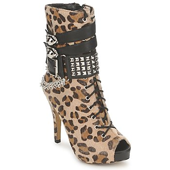 Shoes Women Ankle boots Abbey Dawn PLATFORM BOOTEE Leopard / Print