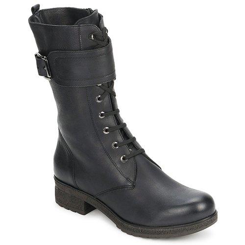 Shoes Women Boots Unisa BLACK  black