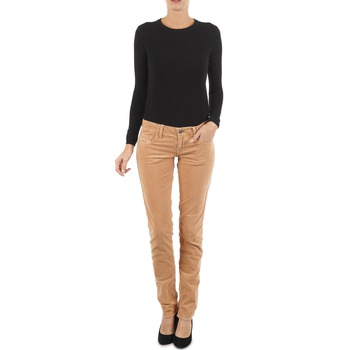 material Women slim jeans Diesel GRUPEE-F TROUSERS Beige
