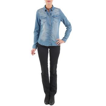 material Women straight jeans Diesel MYBOY TROUSERS Black