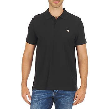 material Men short-sleeved polo shirts Chevignon O DUCK Black