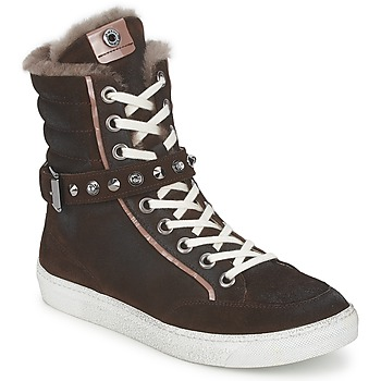 Shoes Women High top trainers Janet Sport MOROBRAD Brown