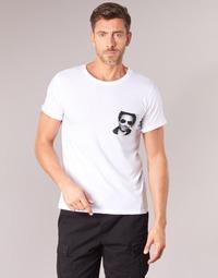 material Men short-sleeved t-shirts Eleven Paris LENNYPOCK MEN White