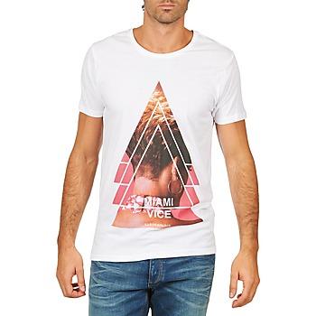 material Men short-sleeved t-shirts Eleven Paris MIAMI M MEN White