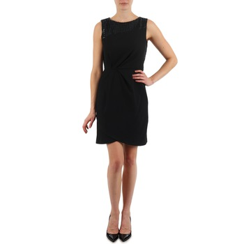 material Women Short Dresses Manoukian YOKE Black