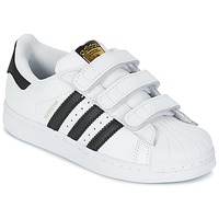 Shoes Boy Low top trainers adidas Originals SUPERSTAR FOUNDATIO White / Black