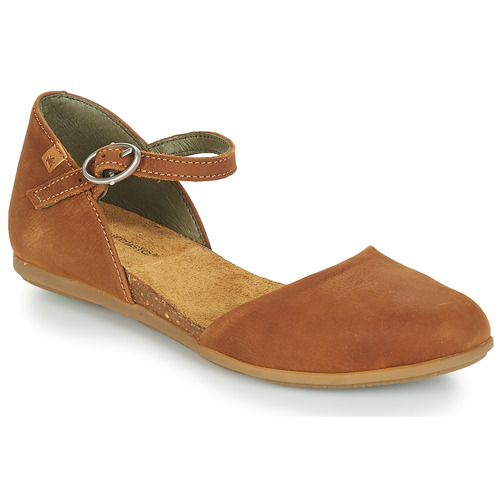 Shoes Women Ballerinas El Naturalista STELLA Brown