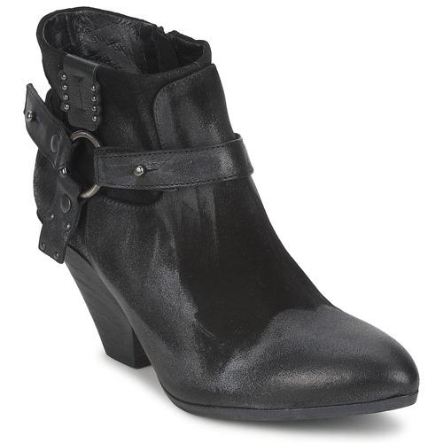 Shoes Women Low boots Strategia SANGLA Black / Silver