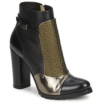 Shoes Women Ankle boots Etro FEDRA Black / Kaki / Silver